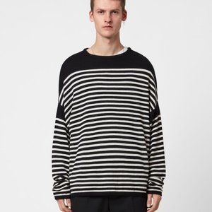 NWT All Saints Taleze Crewneck Striped Sweater